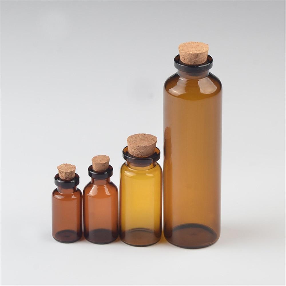 Vials, Brown, Empty, Glass, Tiny, Bottles