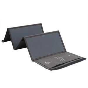 Image 2 - Xionel 28 واط شاحن بالطاقة الشمسية المحمولة مقاوم للماء مع لوحة طاقة شمسية منافذ USB مزدوجة للهاتف المحمول