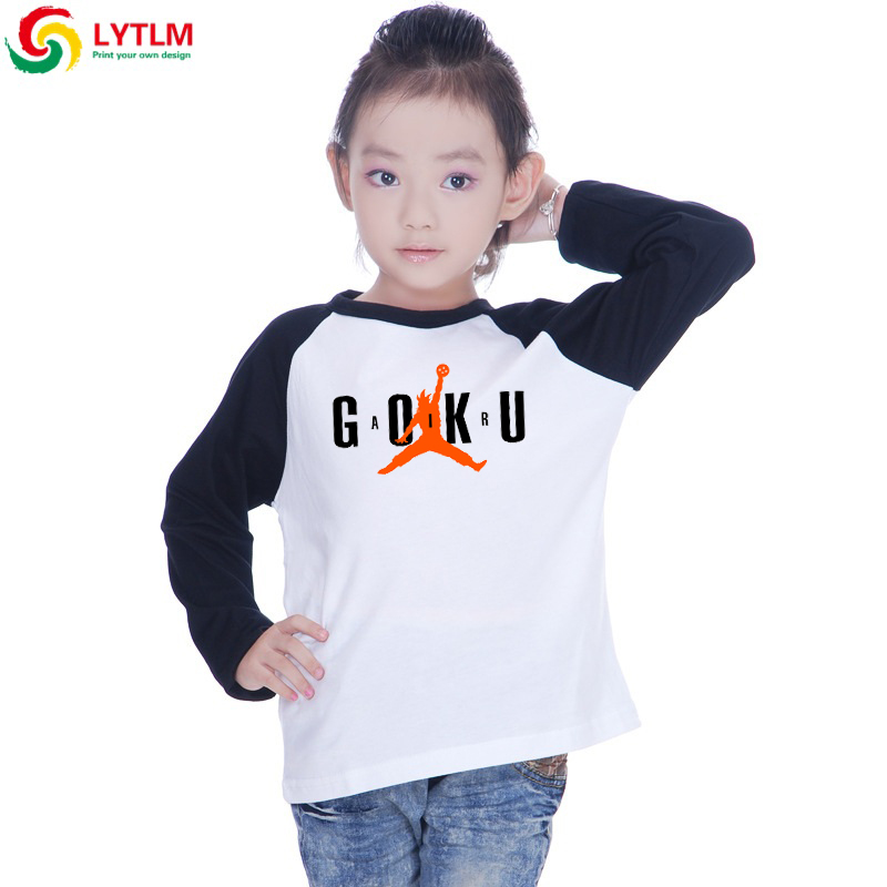 LYTLM Son Goku Costume Kids Brand Clothing T Shirt Dragon Ball Kid Goku T-shirt Children Fall Kids Long Sleeve Tshirts for Girls(China)