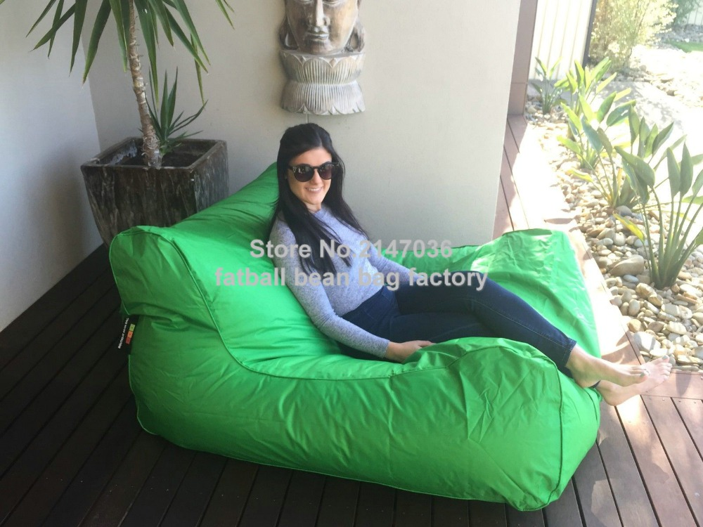 Lime Green Large Bean Bag Sofa Seat Furniture, Outdoor Beanbag Chairs,  Double Room Set