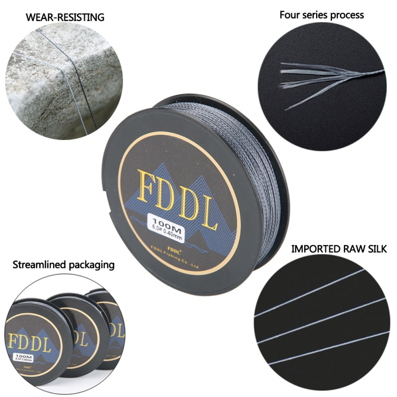 100M PE Braided Fishing Line 4 Stands Multi-filament Fishing Line For Carp Fishing Wire For All Fishing New 2018