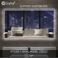 Gisha Smart Mirror LED Bathroom Mirror Wall Bathroom Mirror Bathroom Toilet Anti-fog Mirror With Touch Screen Bluetooth G8015