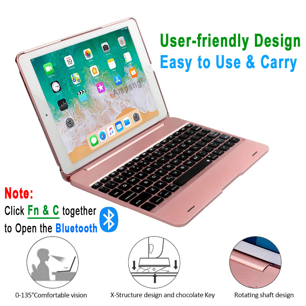 Image 4 - Smart Keyboard Case for Apple iPad 9.7 2018 2017 5th 6th  Generation Air 1 2 Air1 Air2 Pro 9.7 A1893 A1954 A1822 A1823   Flim PenTablets