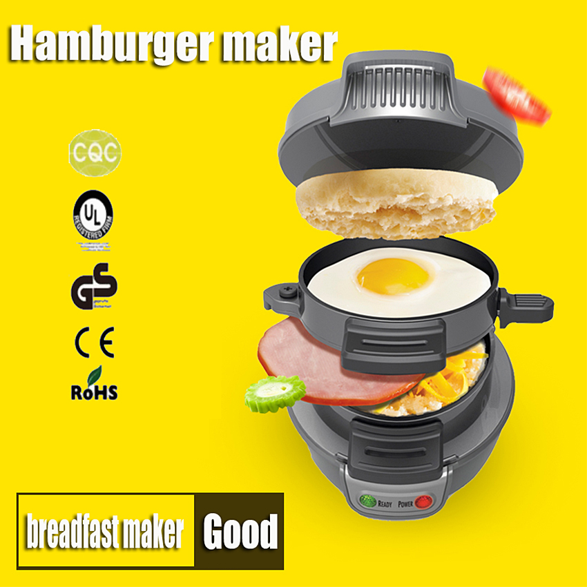 ФОТО 1PC Healthy breakfast maker hamburger multifunction household machine hamburger sandwich maker For children