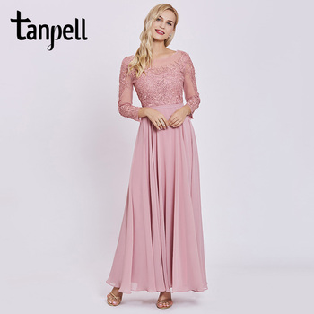 Ladies Long Pink 2018 Off The Shoulder Beautiful Women Prom Dress