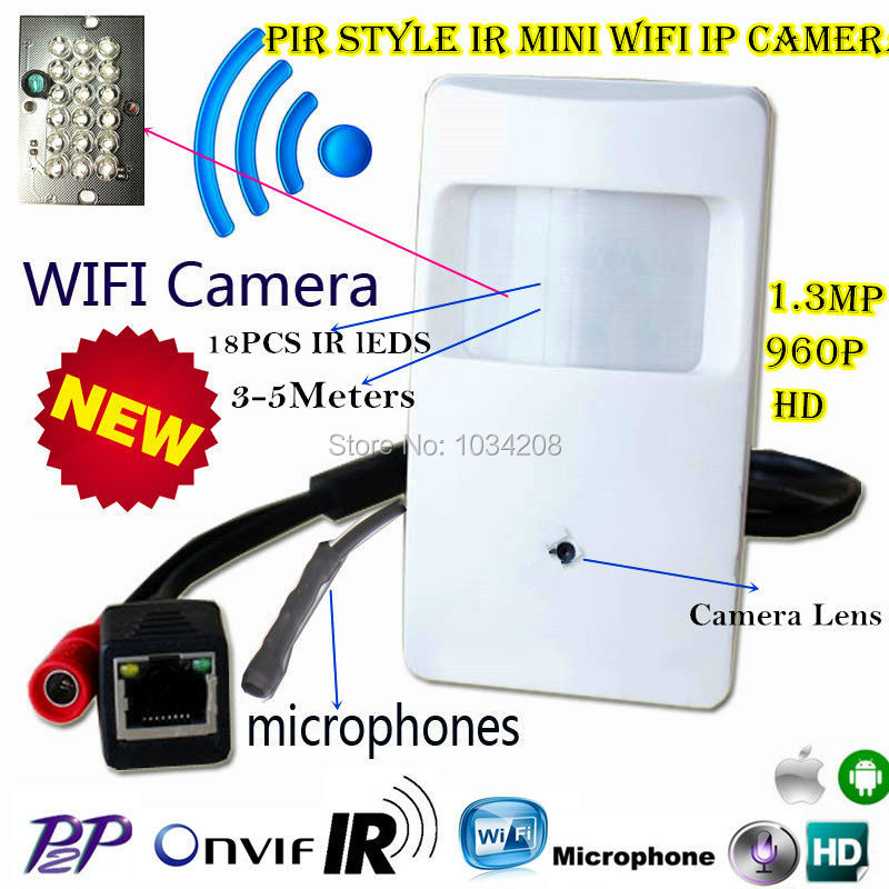 940nm IR Night Vision Audio 960P Micro IP Camera HD PIR STYL Wireless Mini Wifi IP Camera P2P Onvif Security Video Surveillance