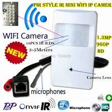 940nm IR Night Vision Audio 960P Micro IP Camera HD PIR STYL Wireless Mini Wifi IP Camera P2P Onvif Security Video Surveillance