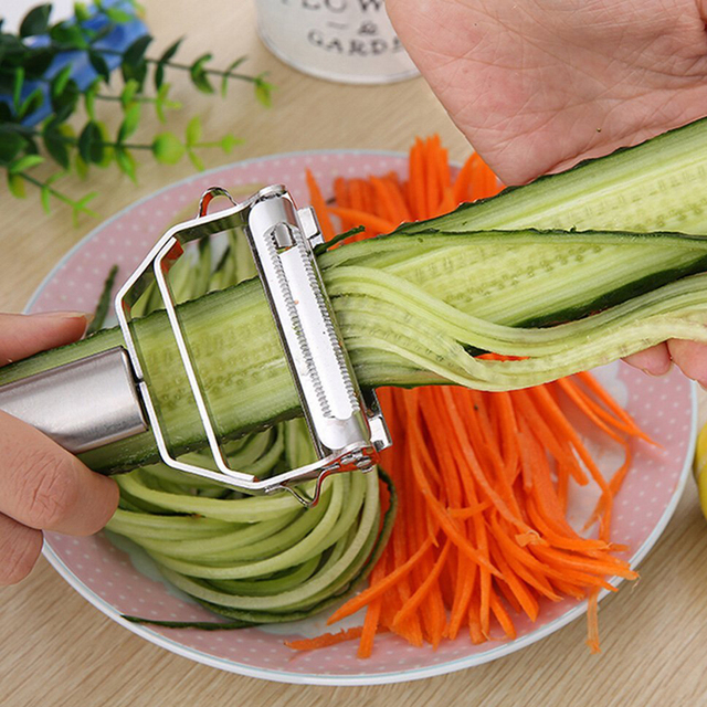 Kitchen Accessories Cooking Tools Multifunction Stainless Steel Julienne Peeler Vegetable Peeler Double Planing Grater new year