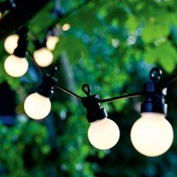 Binval G50 Globe String Light Outdoor Fairy Lights 10/20 LED Bulb Festoon Garden Patio Wedding Party Christmas Decoration Light