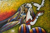 Hand painted dầu vẽ trên canvas World Picasso nổi tiếng tóm tắt Canvas vẽ tranh Sexy Phụ Nữ Tường art ảnh để Living room