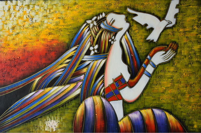 Hand Painted Oil Painting On Canvas Modern Abstract Canvas