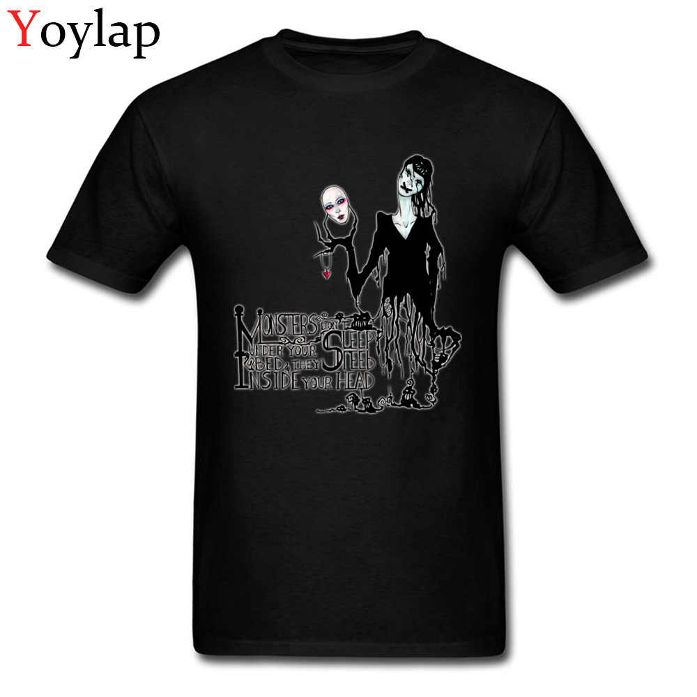 Creepy Design monstres Don't Sleep hommes T-shirts hauts & T-shirts manches courtes noir blanc Ghoul Rock & Roll