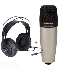 Samson C01 & Sr950 Condenser Usb Microphone Professional Monitor Headphones For Recording Vocals And Studio Monitoring