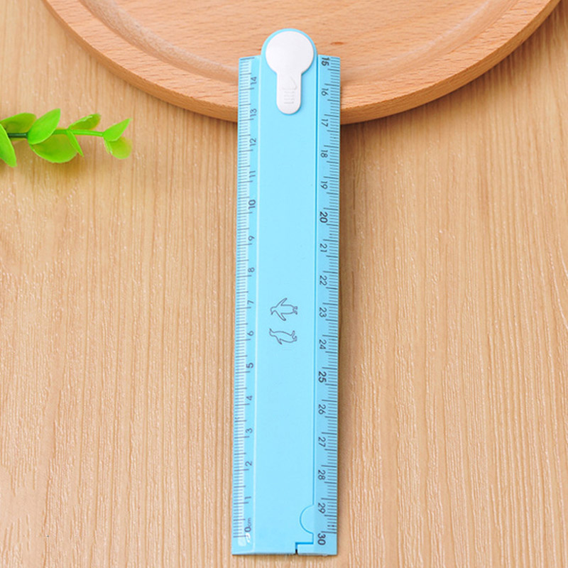 1PCS Folding Ruler Scale 30cm Cute  Candy Folding Plastic Ruler For Kids Student Creative Product Gift Office School Supplies