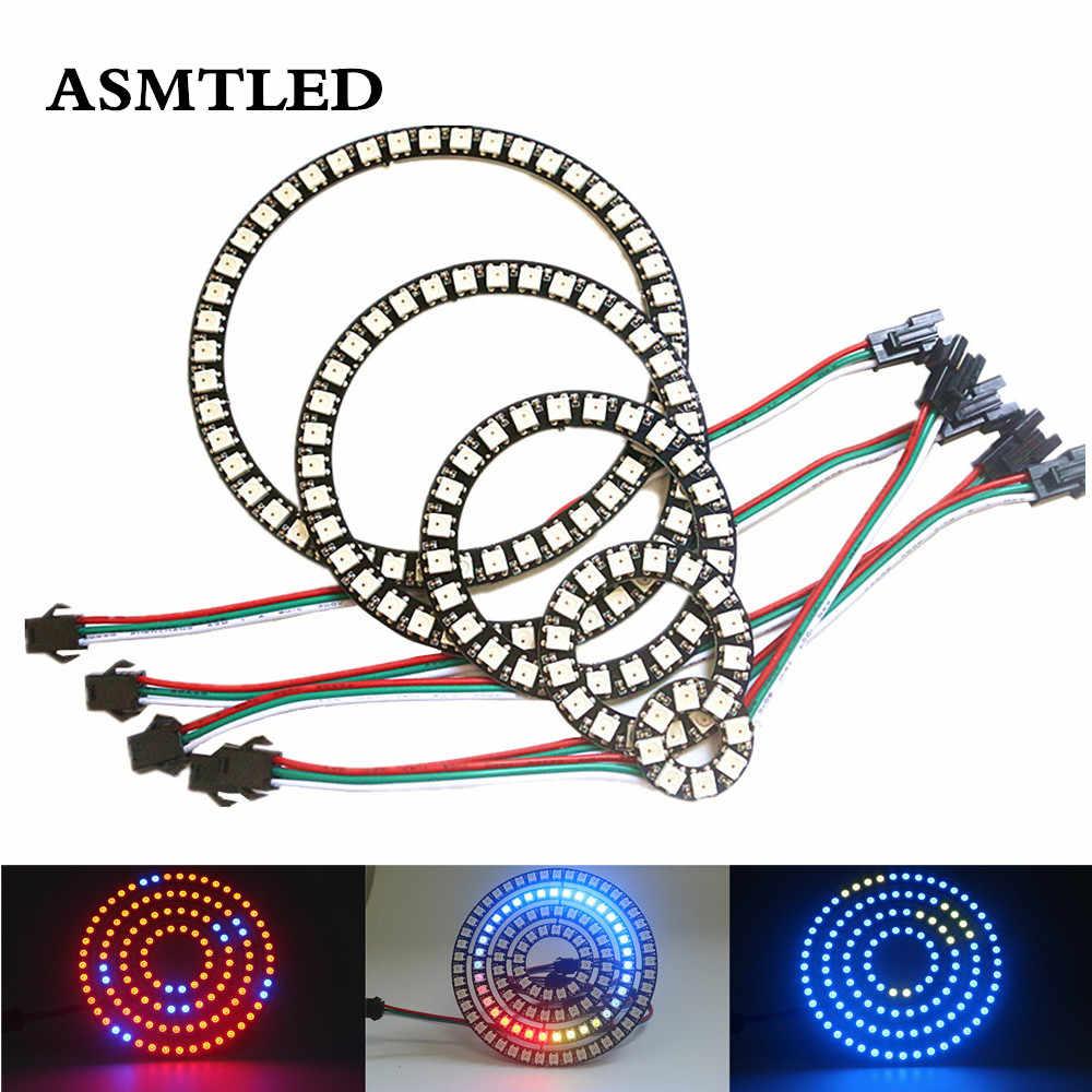 8/16/24/35/45/128 LED s WS2812B pixel anneau adressable LED modules DC5V SK6812 WS2812 RGB couleur LED ronde cercle nouveau