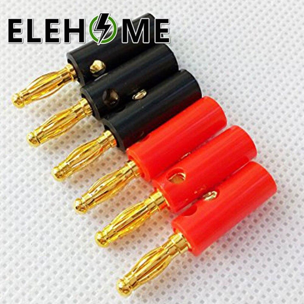 10pcs 4mm Banana Plugs Connectors Banana Speaker Wire Cable Screw Plugs Connectors Audio Speaker Screw XF30 in Connectors from Lights Lighting