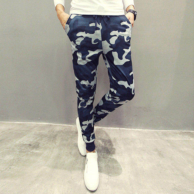 2017 New Camouflage Slim Fit Army Camouflage Trousers Pencil Camo Pants Hip Hop Sweatpants Military Mens Joggers Men Casual Pant