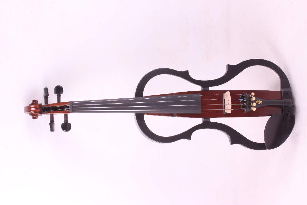 New 4/4 Electric Violin Solidwood Powerful Sound Big jack Small jack Master  2# brand new handmade colorful electric acoustic violin violino 4 4 violin bow case perfect sound
