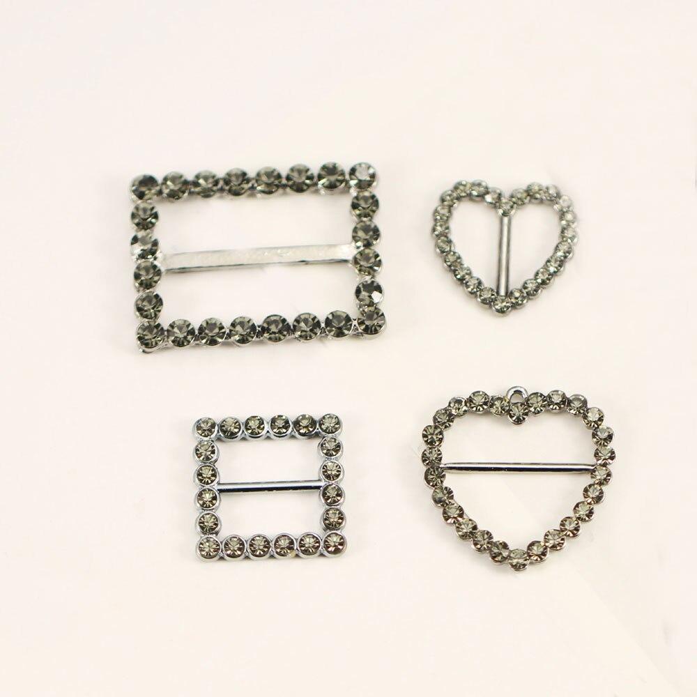 10pcs Gun Black Square Metal Shoe Buckles Belt Buckle For Men/Women/Scarf Apparel Accessories Invitation Ribbon Wed Decoration