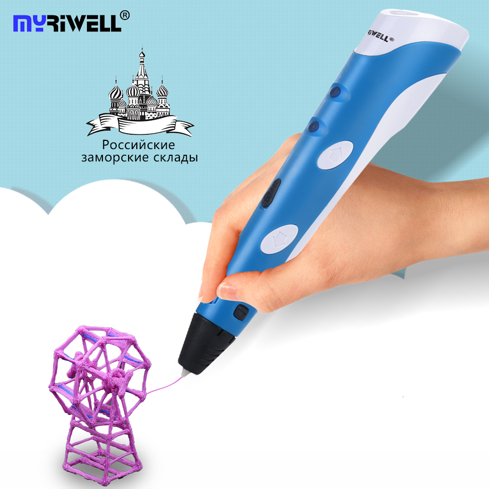 3D Printing Pen 12V 3D Pen Pencil 3D Drawing Pen Free 100m ABS Filament For Kid Child Education Hobbies Toy Christmas Gift