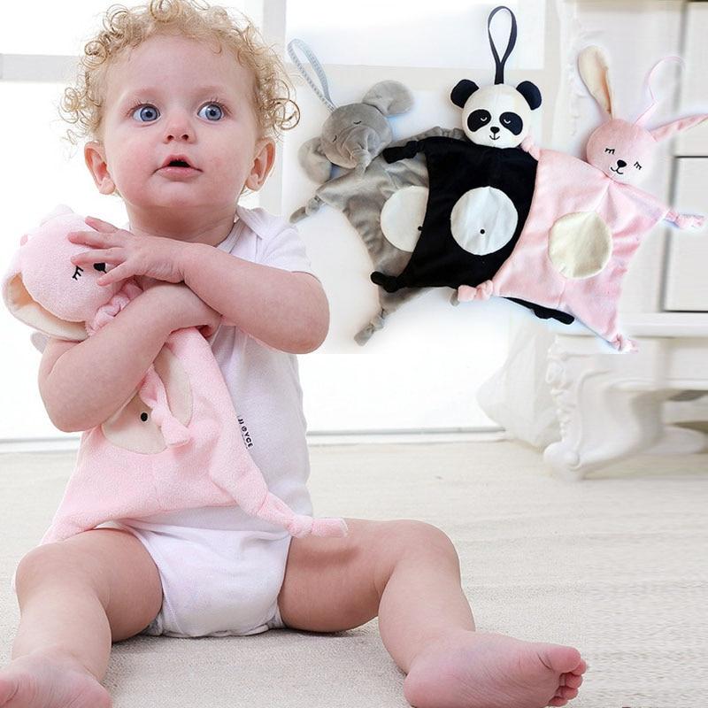 Lapin panda éléphant singe infantile doux Animal apaiser serviette bébé apaiser jouets enfants main saisir serviette confort bébé jouets I0025