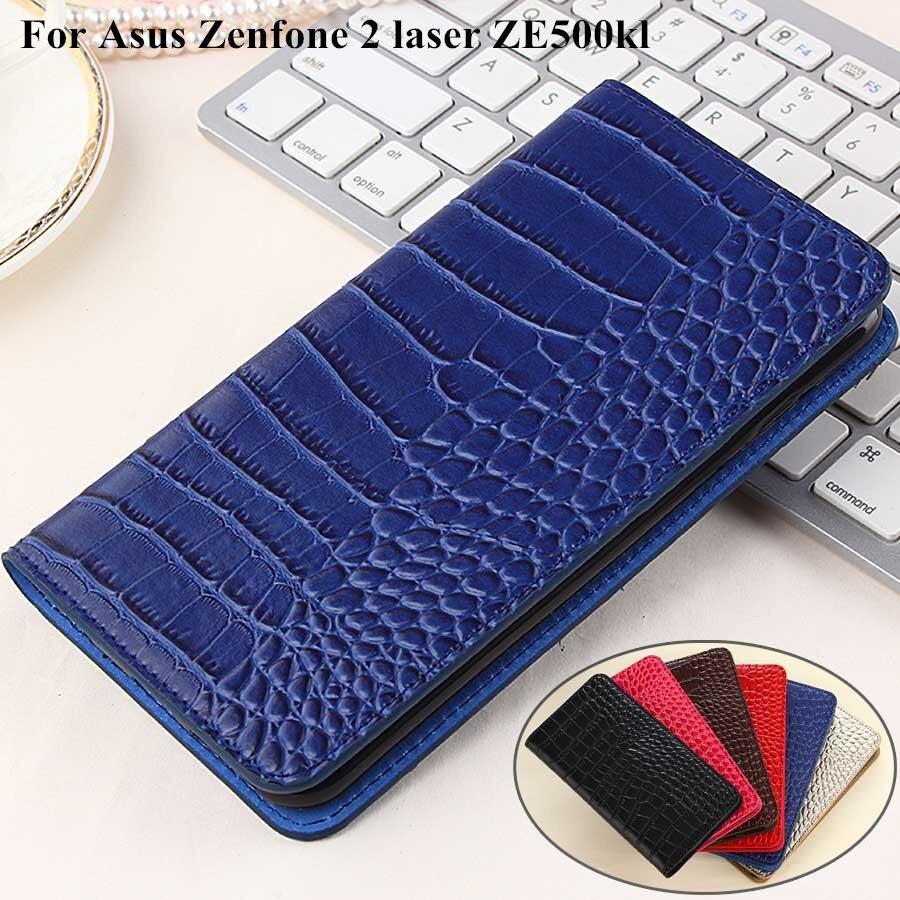 Couro luxo flip case para asus zenfone 2 laser ze500kl + tpu capa carteira para asus ze500kl case telefone coque Fundas