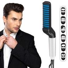 Mens Beard Straightener Comb Professional Quick Hair Styler Multifunctional Curling Iron Magic Massage