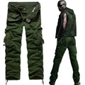 New summer mens casual pants washing 100% high quality cotton overalls  Cargo design trousers,Black,Khaki,ArmyGreen,K758