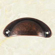New 5 Colors Imitation Brass Iron Antique Shell Cup Drawer Cupboard Cabinet Door Pull Handles In Stock 30 pcs/lot 81mm*33mm цена