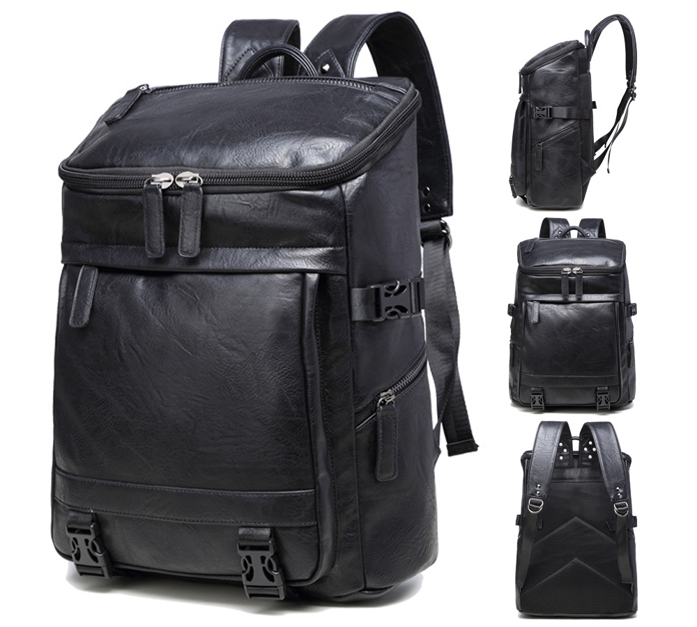 14 15 15.6 Inch PU Big Size Computer Laptop Notebook Backpack Bags Case School Backpack for Men Women Student Travel men backpack big size travel bag pu leather backpack student school bags for teenagers famous brands women laptop backpack
