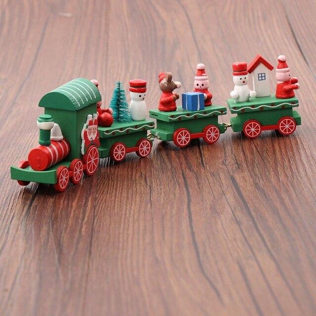 28b129180b3 Decoración de Navidad de madera tren a casa decoración adornos de Navidad  de los niños del