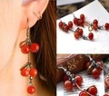 EY326 Latest Fashion Ruili Sweet Plump Cherries Retro Aesthetic Qualities Of Small Earrings Jewelry Factory Direct