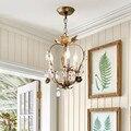 Ретро Художественная хрустальная люстра с веткой дерева винтажная художественная дизайнерская Кофейня для кабинета подвесной светильник ...