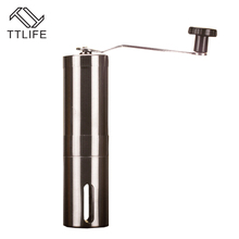 TTLIFE Edelstahl Manuelle Kaffeemühle Waschbar ABS Keramik Kern Hause Küche Mini Manuelle Hand Kaffeemühle 30g