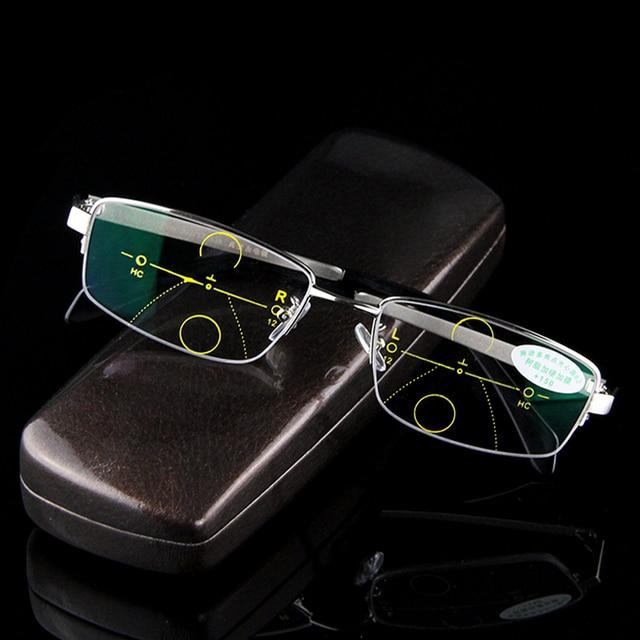 440cfb0b606 Multi-focal Progressive Reading Glasses Men Smart Zoom Asymptotically High  Quality Presbyopia Hyperopia Male Bifocal Eyeglasses