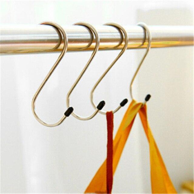 4 Pcs Mạnh Mẽ S Quần Áo Hình Dạng Móc Áo Nhà Bếp Cửa Phòng Tắm Móc Treo Hooks Giặt Kệ Lưu Trữ Tiết Kiệm Không Gian Tủ Quần Áo Tổ Chức