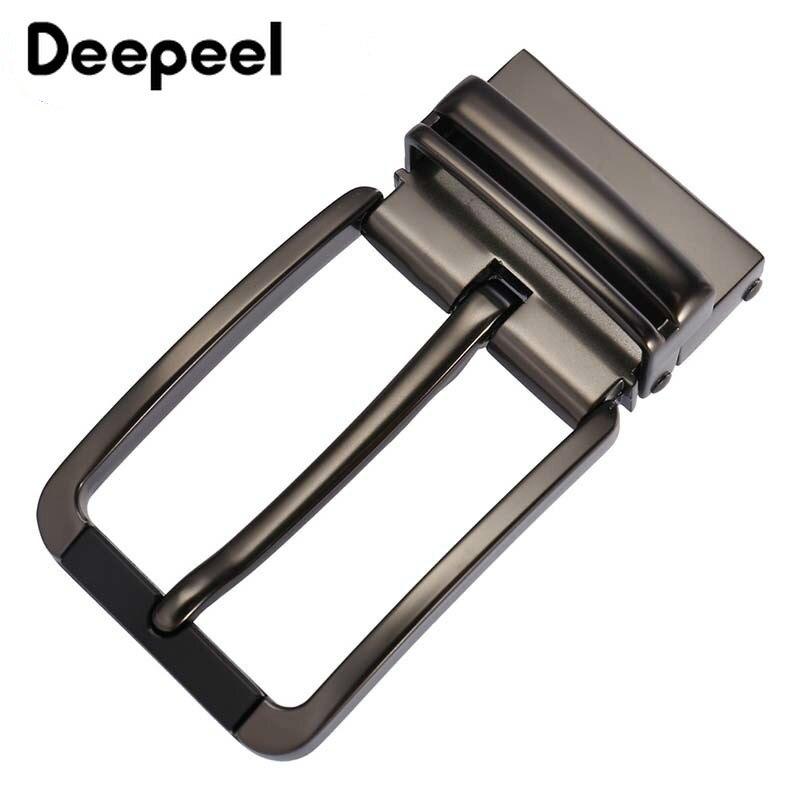 Deepeel 1PC Fashion Men Belt Buckles Zinc Alloy Metal Pin Buckle For Belt 33-34mm Belt Head DIY Leather Craft Hardware Accessory