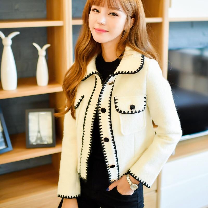 As Slim Flottante D'hiver De Femmes Veste Mode Laine Tempérament Parfum Photo Femme Automne Coréenne Courte Et Petit qZABwUx