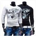 Верховный Настоящее Рубашка Мадрид Хлопок O-образным Вырезом Polo рубашка Случайный С Длинными Рукавами футболка Печати Мультфильм PicturesT20 мужская Одежда