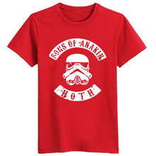 High Quality Starwars Star Wars Tshirts Sons Of Anakin Anarchy Stormtrooper T-shirts Cotton Casual Men T Shirts Tees Tops