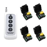 Smart Home Remote Switch AC 220V 4CH Light Lamp LED SMD Remote ON OFF Switch Long Range Handheld Transmitter 4Keys Hot Sale