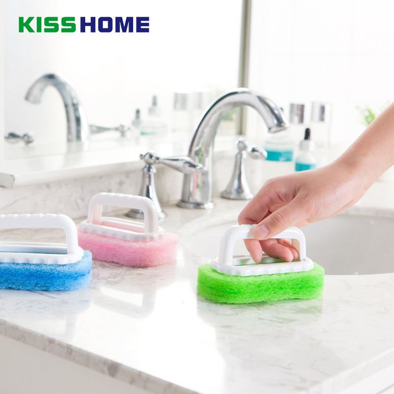 1PC Magic Sponge Eraser Tiles Cleaner Brush Wash Pot Clean Brushes Sponges Bathroom Accessorie 3 Color Kitchen Cleaning Tools
