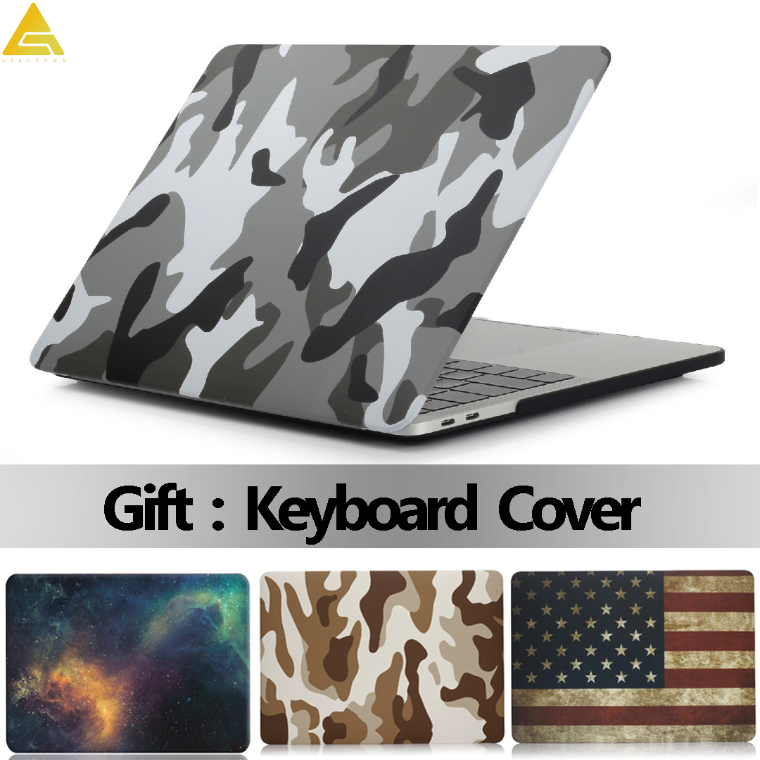 Shell Laptop Case For MacBook Air 13 Pro Retina 11 12 13.3 15 Touch Bar For Macbook New Air 13 A1932 2018 + Keyboard Cover
