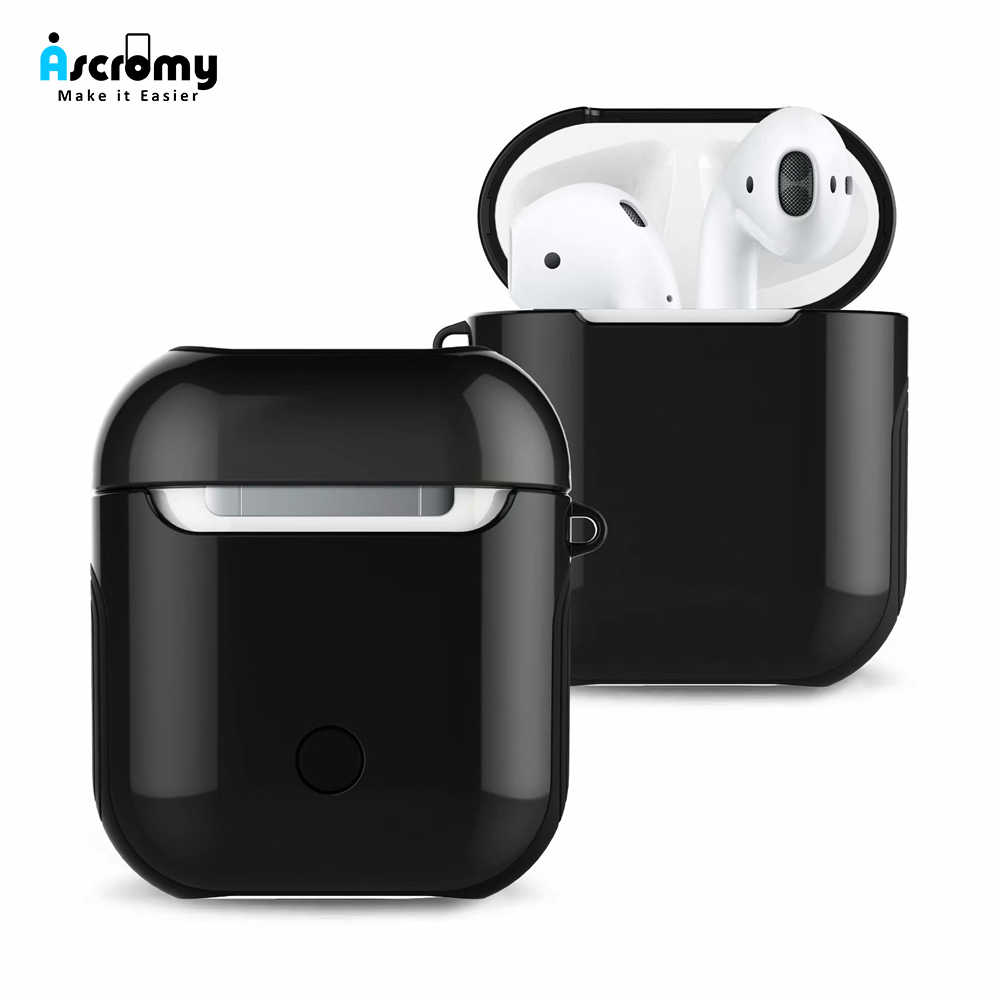 Ascromy True Wireless Earphone Case Charging Box For Apple Airpods Skin Air pods Bluetooth Headphone Pouch Protector Accessories