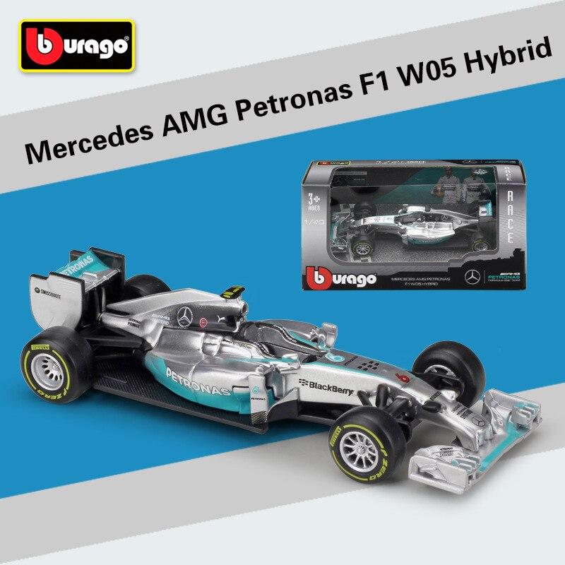 1:43 Scale Mini Metal F1 Car Formulaa 1 Model Benz Racing Car Simulator W05/W07 Alloy Toy Car Diecast Collection/Model/Kids Gift