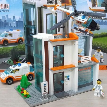 Nueva Original Kazi Ciudad Centro de Rescate de Bloques de Construcción 450 unids/set Hospital de Rescate de Ladrillos Modelo Juguetes Compatible con Lego 85007