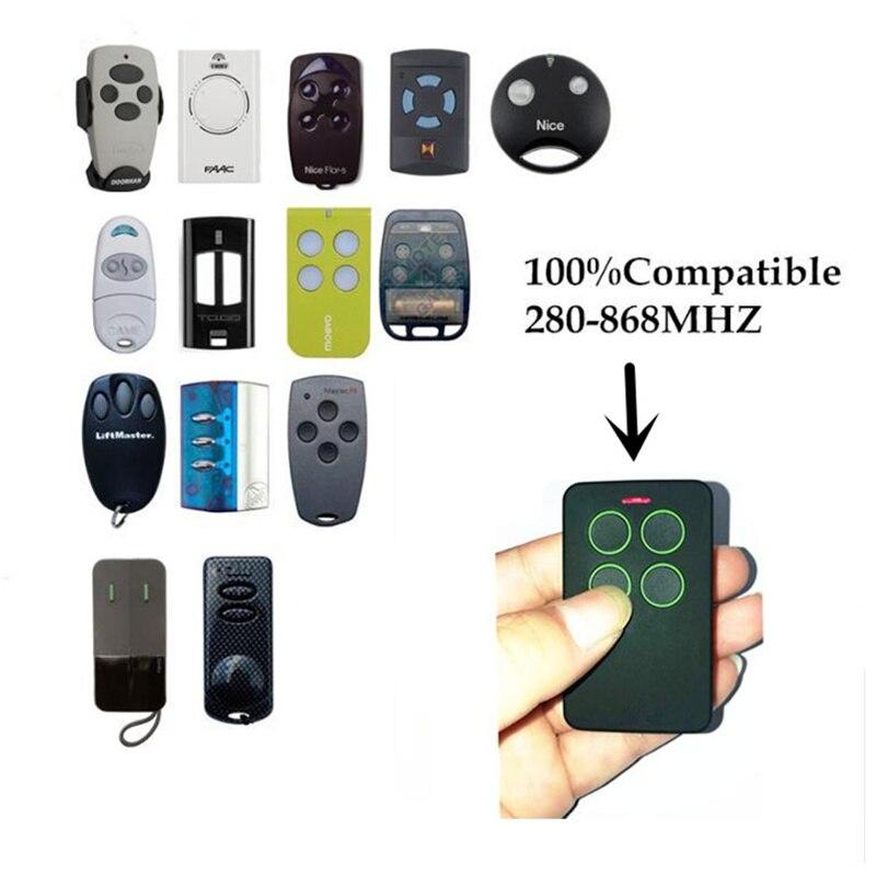 4 canal multi Fréquence télécommande un remplacement pour télécommandes avec fixe et rolling code fréquence de 280 à 868 mhz