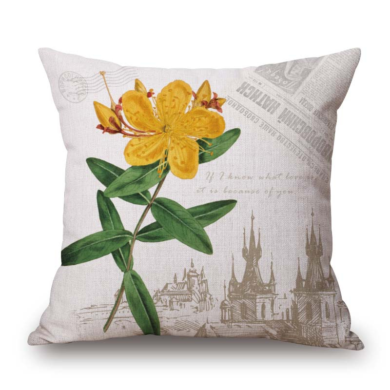 Wholesale British minimalist Pillows creative minimalist flower Pillows Decorate Nordic style Sofa Cushion C