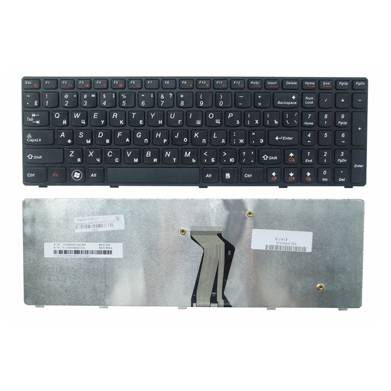Russia RU New Keyboard FOR Lenovo Y500 Y500N Y510P Y500NT BLACK Laptop Keyboard No Backlight