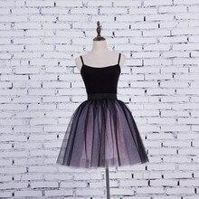 FOLOBE Vintage Style 5 Layers Stock 12 Colors Dancewear Ball Gown Midi Tutu Tulle Skirts Womens